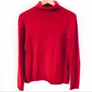 Banana Republic Wool Red Turtleneck Sweater Sz S